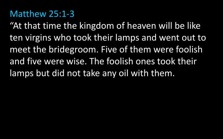 Matthew 25:1