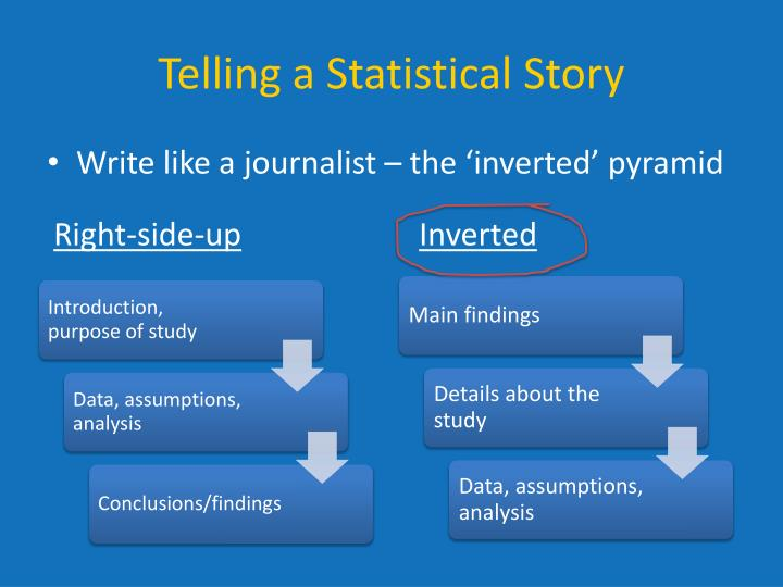 Telling a Statistical Story