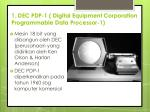 1 dec pdp 1 digital equipment corporation programmable data processor 1
