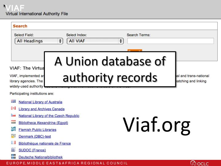 A Union database of
