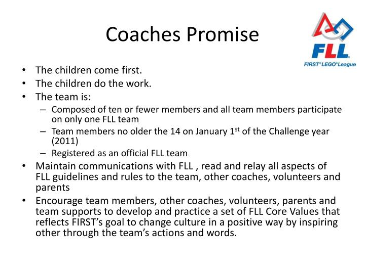 Coaches Promise