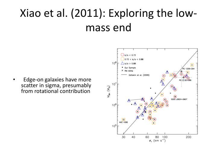 Xiao et al. (2011): Exploring the low-mass end
