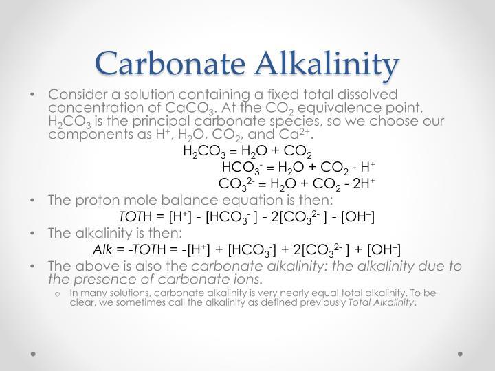 Carbonate Alkalinity