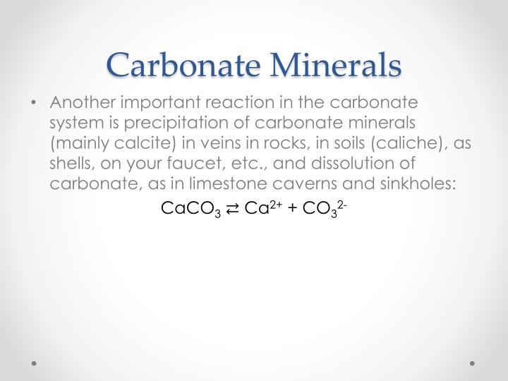 Carbonate Minerals