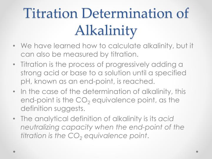 Titration Determination of Alkalinity