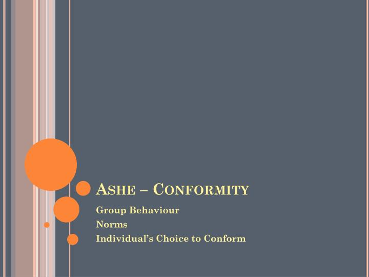 Ashe – Conformity