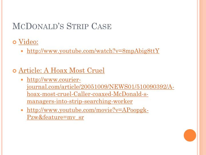 McDonald's Strip Case