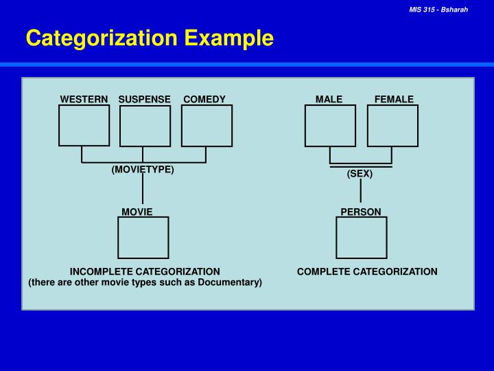 Categorization Example
