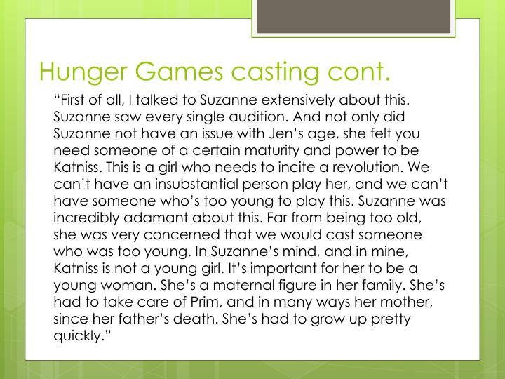 Hunger Games casting cont.