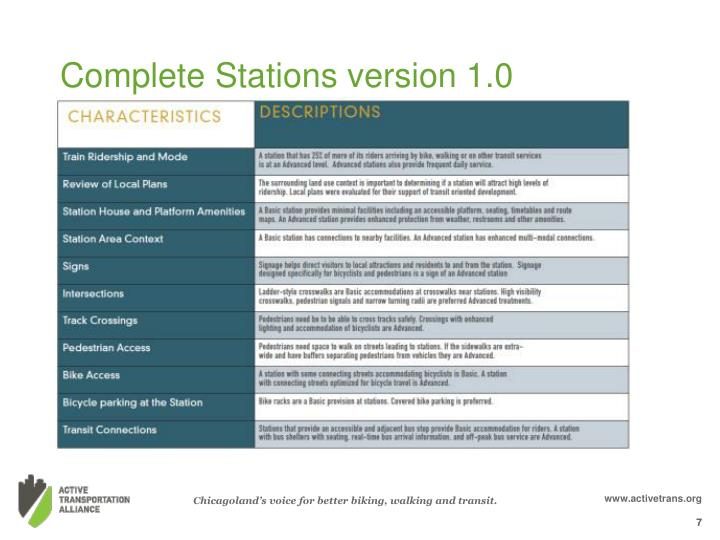Complete Stations version 1.0
