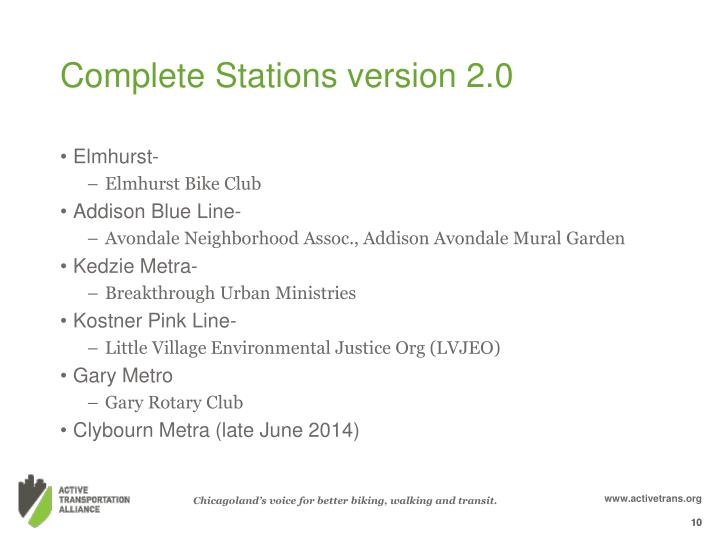 Complete Stations version 2.0