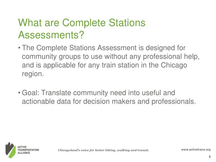 What are Complete Stations Assessments?