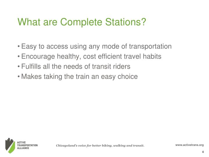What are Complete Stations?