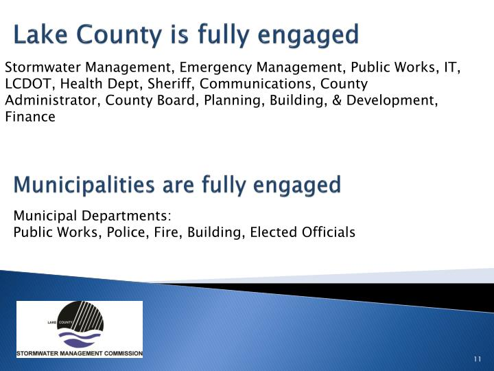 Lake County is fully engaged