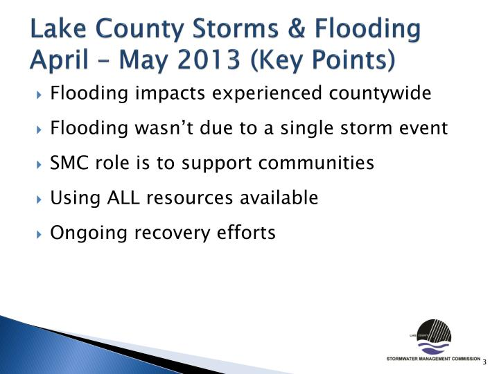 Lake county storms flooding april may 2013 key points