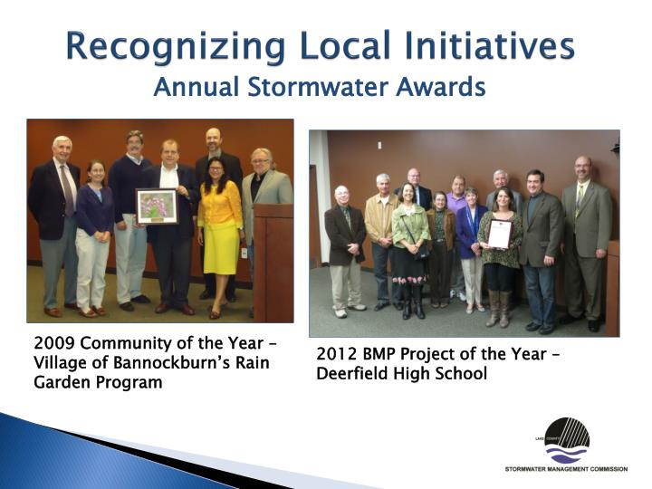 Recognizing Local Initiatives