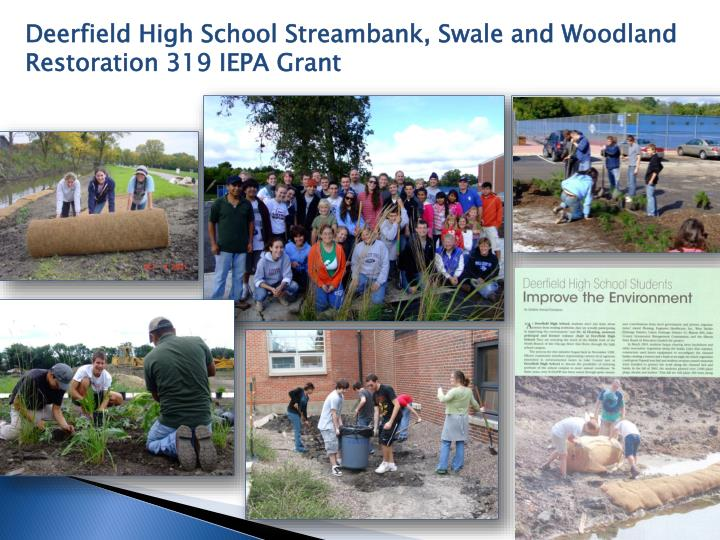 Deerfield High School Streambank, Swale and Woodland Restoration 319 IEPA Grant