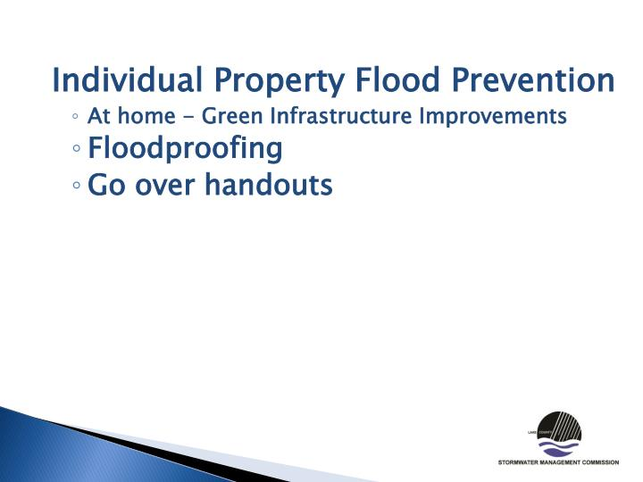 Individual Property Flood Prevention