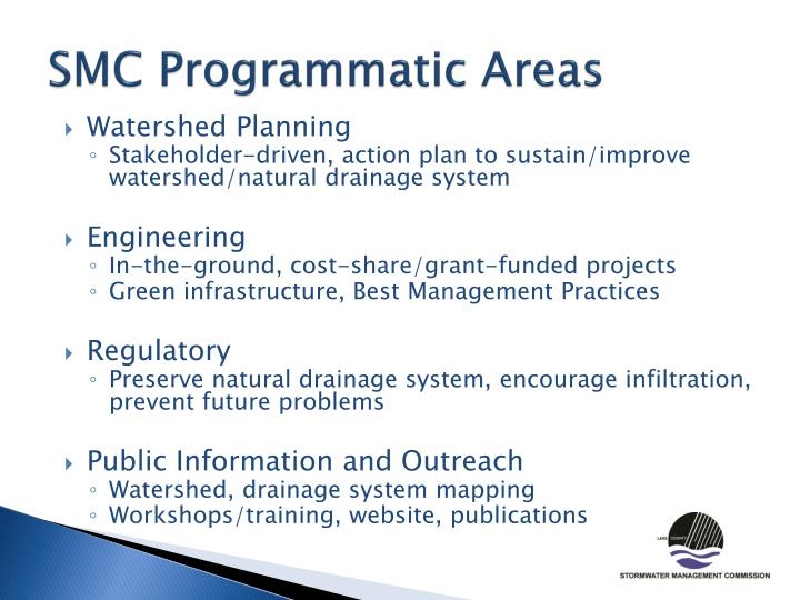 SMC Programmatic Areas