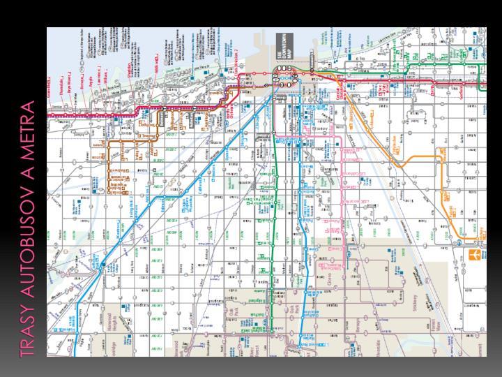 Trasy autobusov a metra