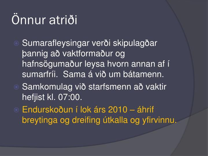 Önnur atriði