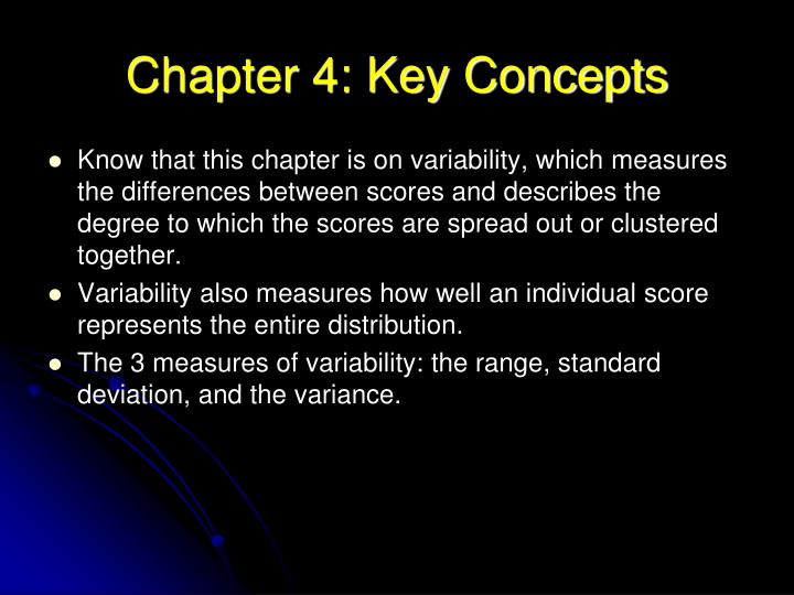Chapter 4: Key Concepts