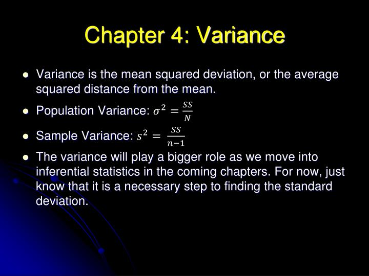 Chapter 4: Variance