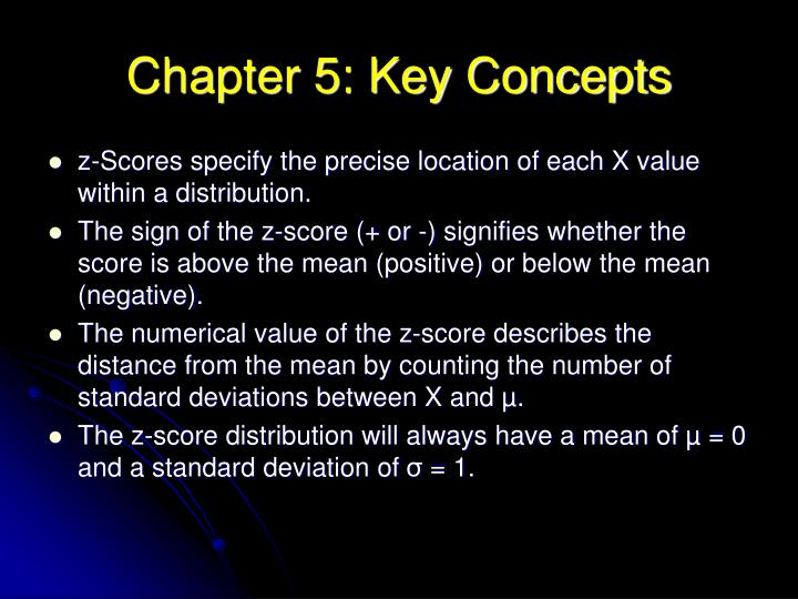 Chapter 5: Key Concepts