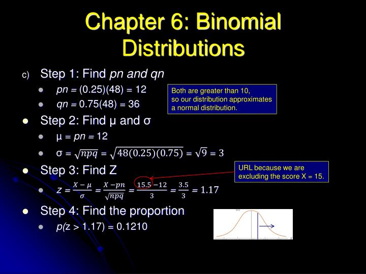 Chapter 6: Binomial Distributions