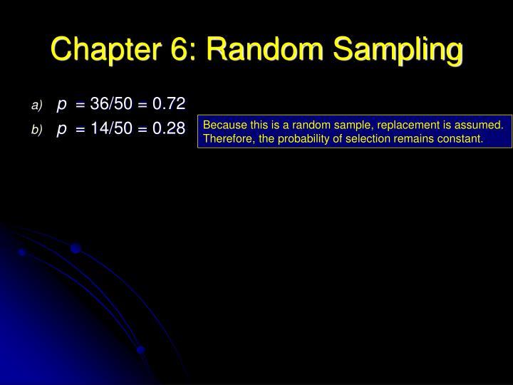 Chapter 6: Random Sampling