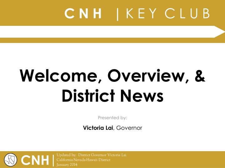 Welcome overview district news