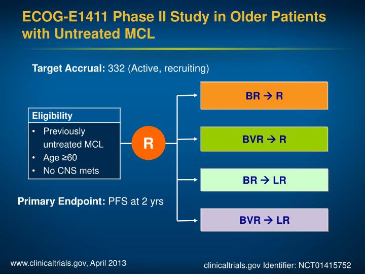 ECOG-E1411 Phase II Study in Older Patients with Untreated MCL