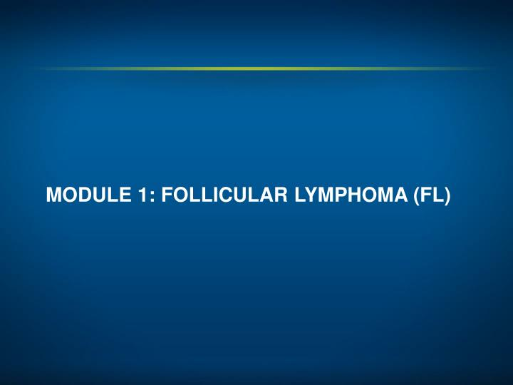 MODULE 1: FOLLICULAR LYMPHOMA (FL