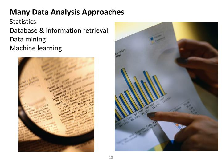 Many Data Analysis Approaches