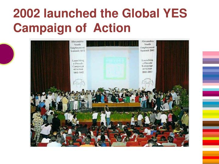 2002 launched the Global YES Campaign of  Action