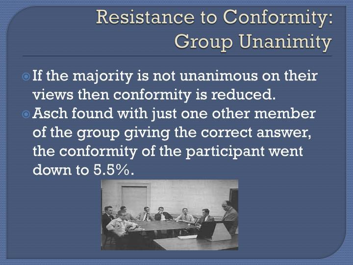 Resistance to Conformity: