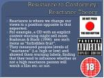 resistance to conformity reactance theory