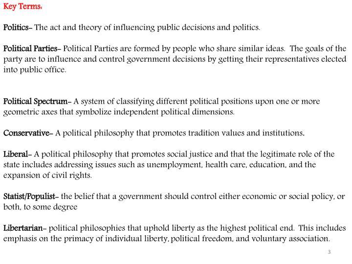 Key Terms: