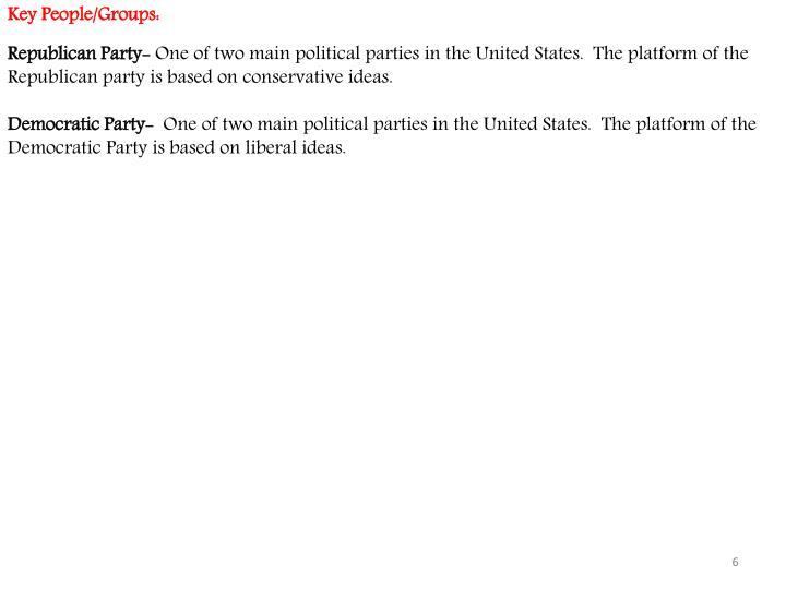 Key People/Groups: