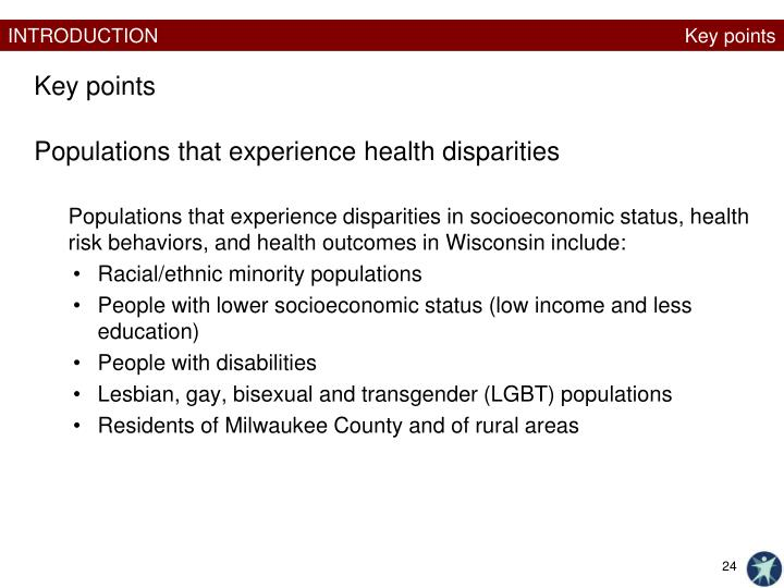 Populations that experience health disparities