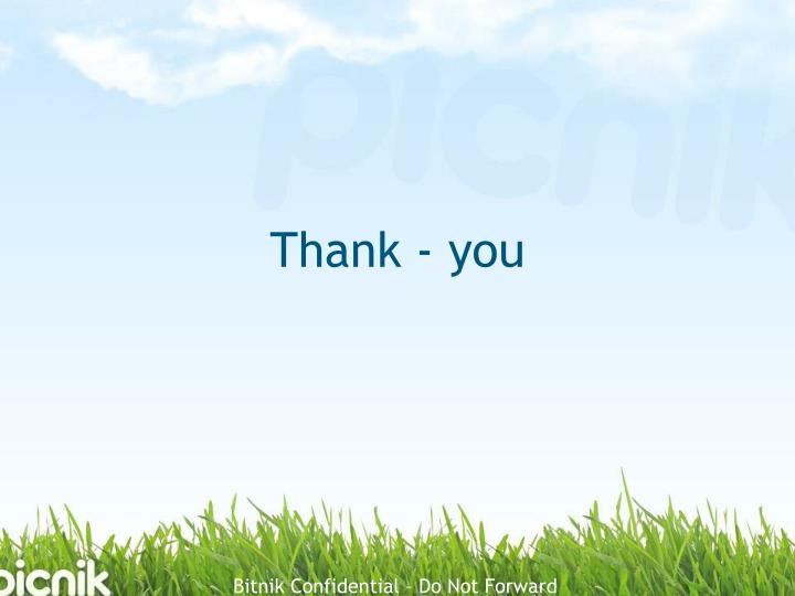 Thank - you