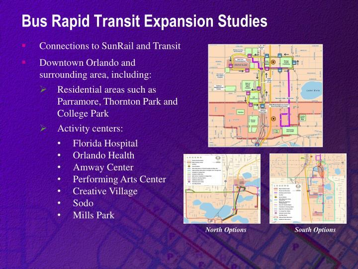 Bus Rapid Transit Expansion Studies