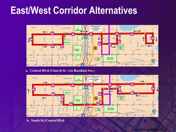 East/West Corridor Alternatives