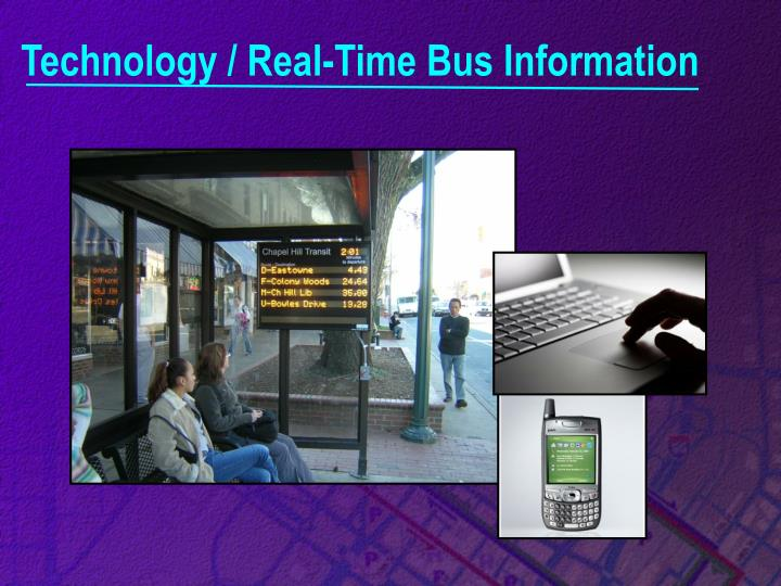 Technology / Real-Time Bus Information