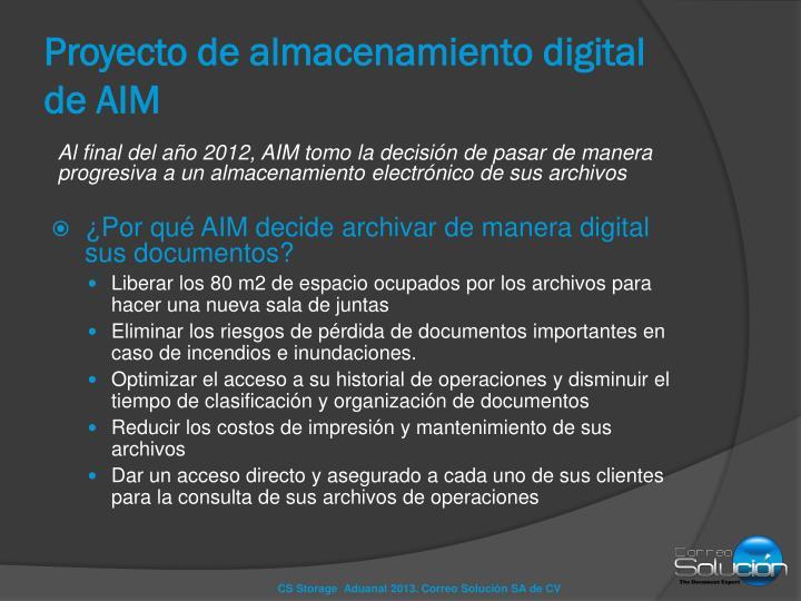 Proyecto de almacenamiento digital de