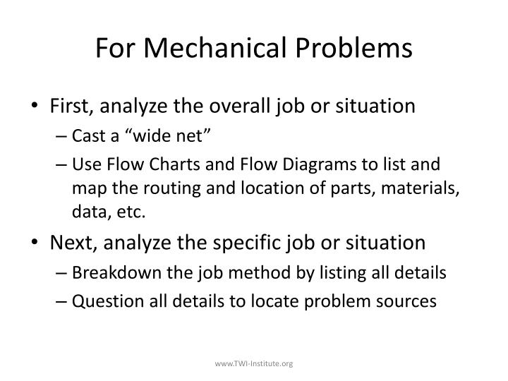 For Mechanical Problems