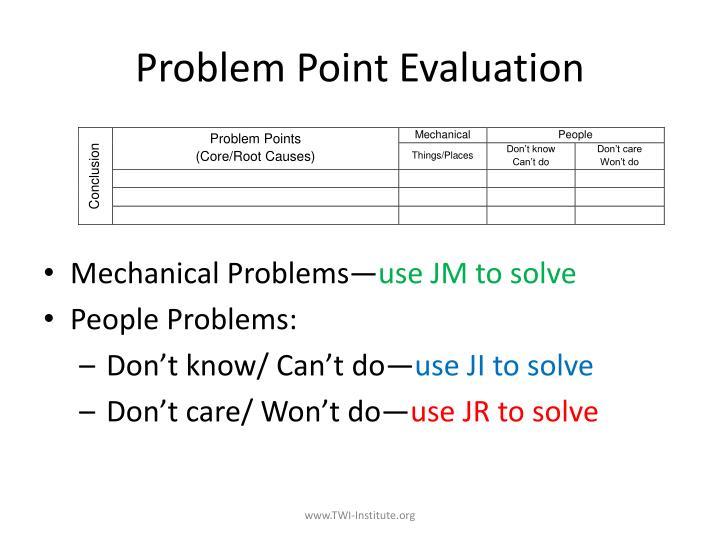 Problem Point Evaluation
