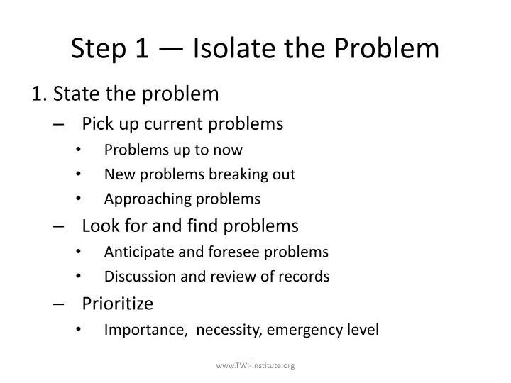 Step 1 — Isolate the Problem