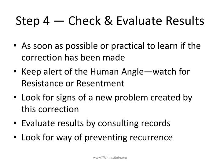 Step 4 — Check & Evaluate Results