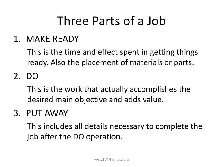 Three Parts of a Job